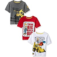Bob the Builder Toddler Boys' Bob 3 Pack Tee Shirts, Multi