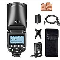Godox V1S TTLカメラフラッシュ 2.4Gワイヤレスシステム内蔵, 7.2V / 2600mAhのリチウム電池、約480のフルパワーポップを提供, Sony製カメラに対応