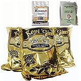 マレーシアサバ州特産テノムレギュラーコーヒー(ブラック加糖)(インスタントではありません)10G X12小袋 X 3パック+トンカットアリハーブ5gとサラワクペッパー5g付きセット [並行輸入品]