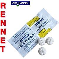 CHR HANSEN 5xCuajo 全チーズタイプ用チタン・レンネットタブレット ミルク250l用の5タブレット(英語版)