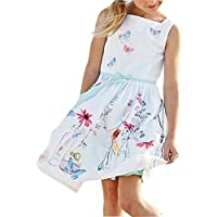 Aliven Girls' Summer Casual Sleeveless Flowers Floral Party Dresses Outfits