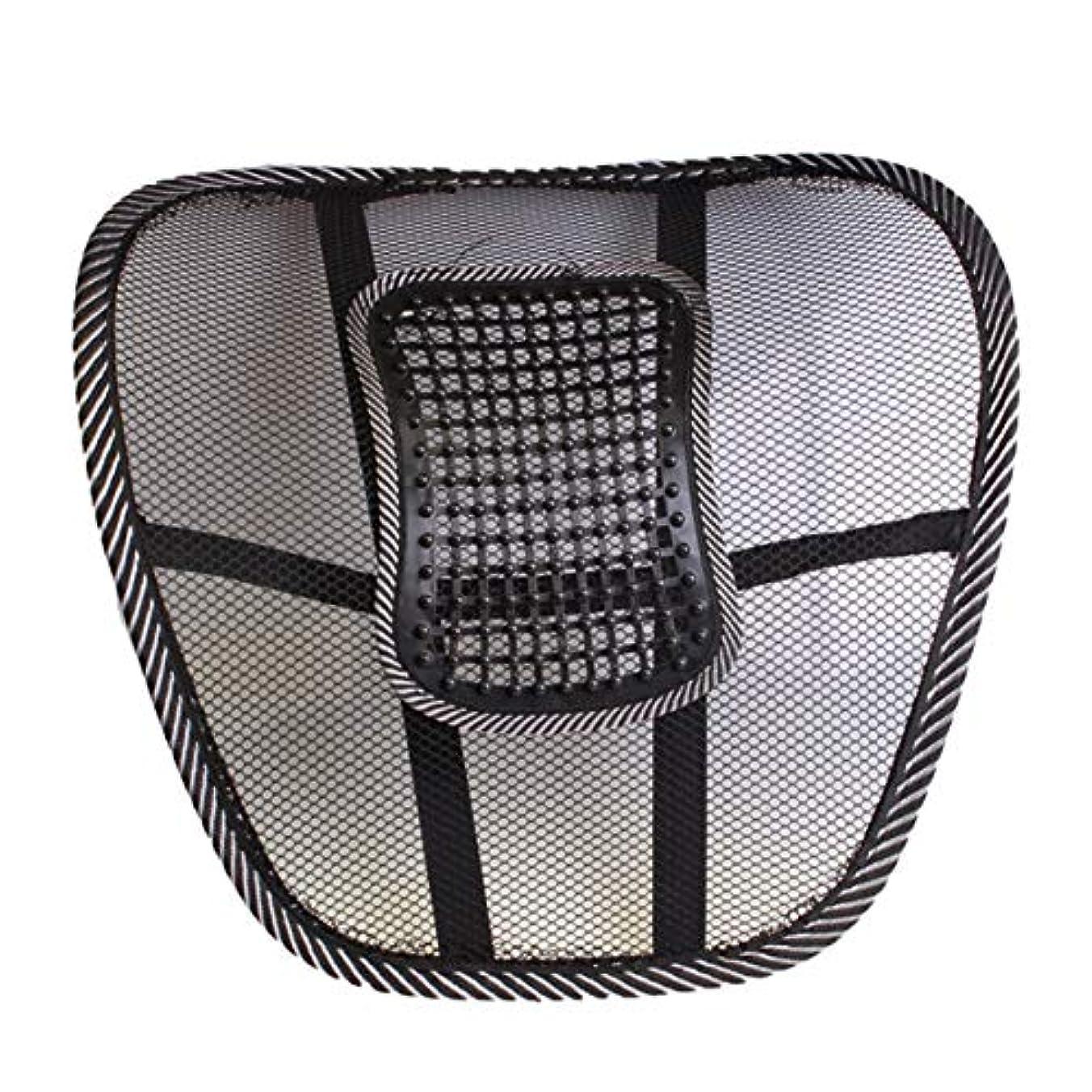 してはいけません敵対的圧倒するメッシュカバー付き腰椎サポートクッション腰痛緩和のためのバランスのとれた硬さ - 理想的なバックピロー