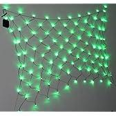 簡単 取付 ソーラー LED スキャッター 100球 太陽光パネル 夜間 イルミネーション 網状 木 壁 (グリーン)