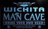 ネオンプレート サイン 電飾 看板 バー pb2099-b Wichita State Cities Man Cave Cowboys Bar Neon Light Sign