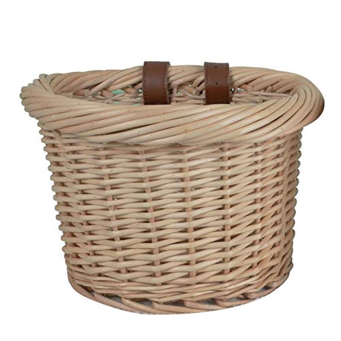 定数カンガルー手錠自転車バスケット屋外カーバスケット環境に優しい手織り自転車 カゴ籐編みバスケット