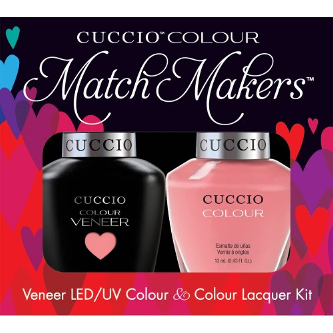 ボードありそう追い付くCuccio MatchMakers Veneer & Lacquer - Turkish Delight - 0.43oz/13ml Each