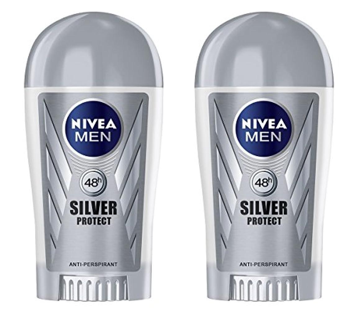 信頼性のある葉を集める苦(Pack of 2) Nivea Silver Protect Anti-perspirant Deodorant Stick for Men 2x40ml - (2パック) ニベア銀保護する制汗剤デオドラントスティック...