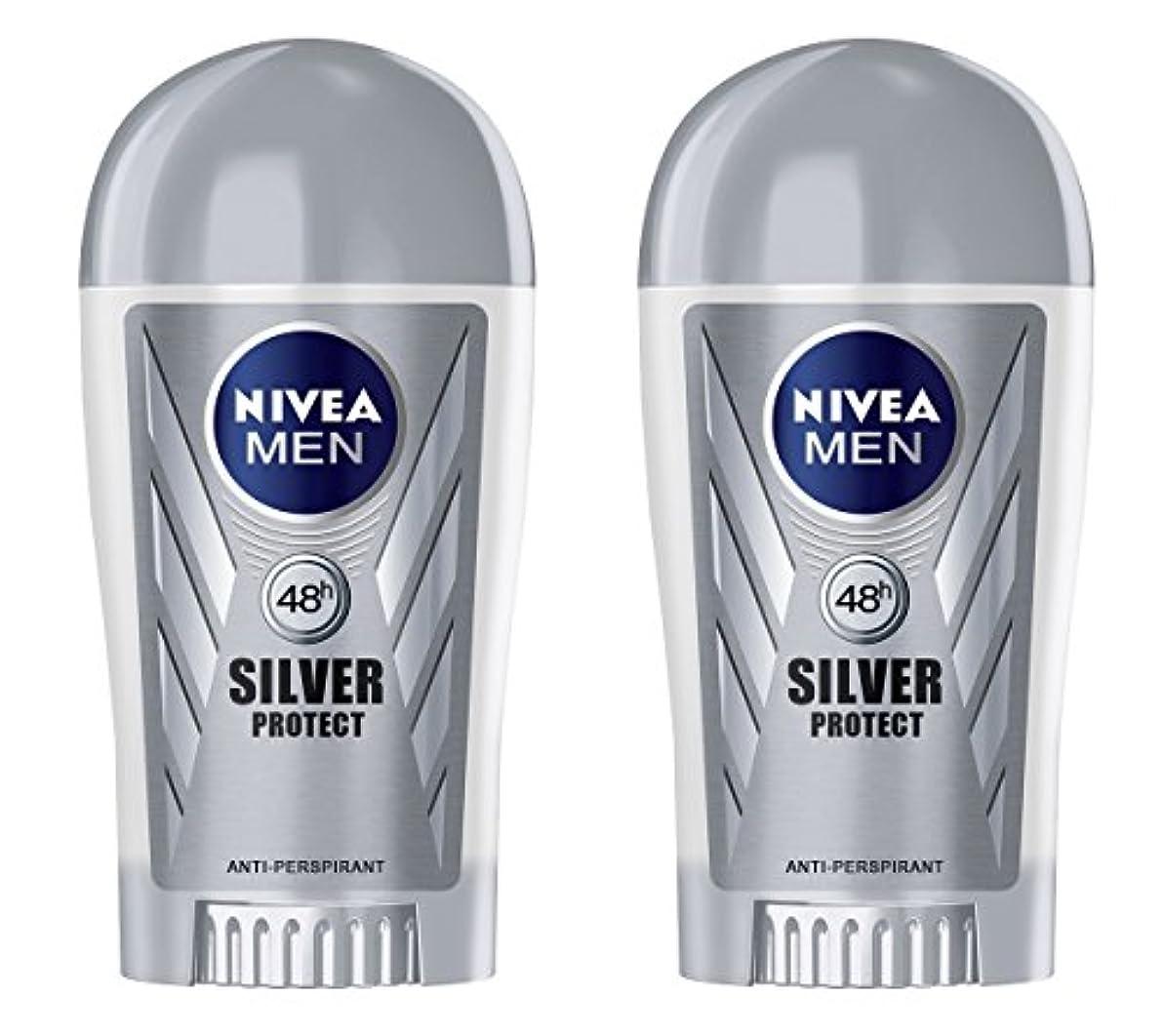 湿地お客様アクティブ(Pack of 2) Nivea Silver Protect Anti-perspirant Deodorant Stick for Men 2x40ml - (2パック) ニベア銀保護する制汗剤デオドラントスティック...