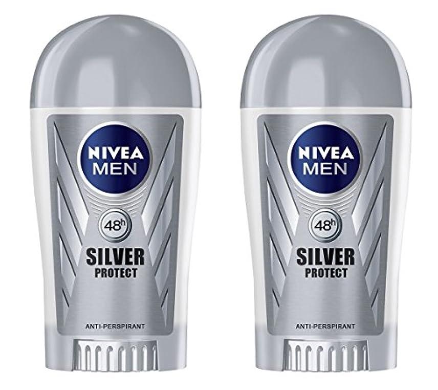 メンタル趣味サバント(Pack of 2) Nivea Silver Protect Anti-perspirant Deodorant Stick for Men 2x40ml - (2パック) ニベア銀保護する制汗剤デオドラントスティック...