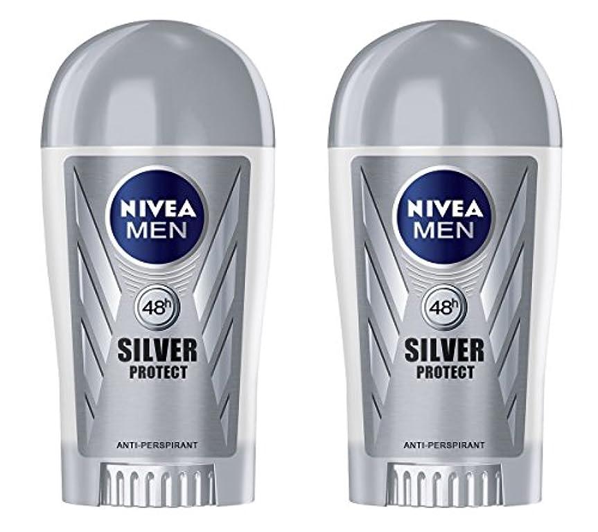 呼ぶ申請中発言する(Pack of 2) Nivea Silver Protect Anti-perspirant Deodorant Stick for Men 2x40ml - (2パック) ニベア銀保護する制汗剤デオドラントスティック...