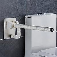FEIFEI バリアフリー折り畳み式トイレアームレスト滑り止めセーフティラーニング老人に適用妊婦(白と黄) ( 色 : 白 )