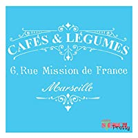 French Cafe legumesステンシル (Multi Pack - S, M, L) SMP-B22-S-M-L