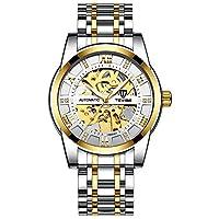 ZHCAIY メンズファッションのストリップは、自動機械式時計の中空時計 (Color : 10, Size : 41mm)