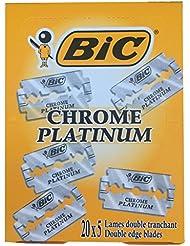 BIC Chrome Platinum 両刃替刃 100枚入り(5枚入り20 個セット)【並行輸入品】