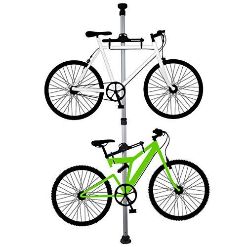 RoomClip商品情報 - 自転車スタンド ディスプレイスタンド バイクタワー 室内 2台 つっぱり式 シルバー