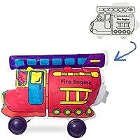 キッズ早期開発アートクラフトDIY移動車両カラーリングおもちゃFireエンジンバルーンカラーPresent