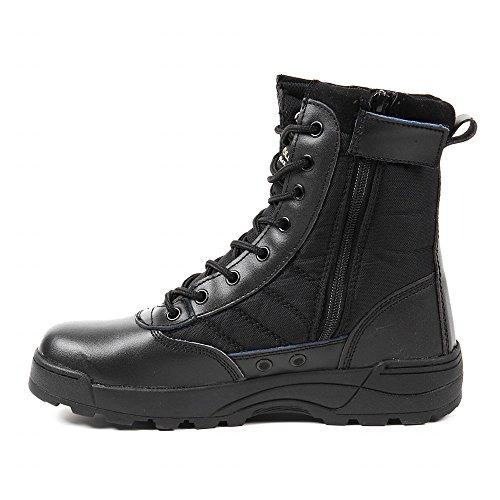 R-STYLE ミリタリースタイルな足下 サバゲー にも YKK監修 第三世代 サイドジッパー タクティカル ブーツ (ブラック42(26cm))