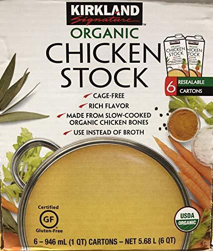 KIRKLAND SIGNATURE ORGANIC CHICKEN STOCK オーガニック チキンストック 鶏だし 出汁 946ml 6本