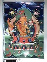チベット仏教 曼荼羅 仏画 大判ポスター 572×420mm 10610