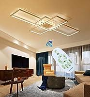 LEDシーリングライトリビングルームライト調光対応シーリングライトシャンデリアモダンシックシーリングライトアクリルリモートコントロール屋内寝室レストランシーリングライトホワイト,41.3inches