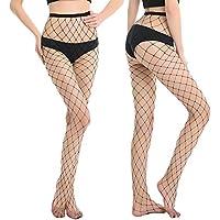 HONENNA High Waist Fishnet Stocking Ladies Mesh Tights Pantyhose Set for Women 2 Pairs