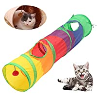 Culturaltu 猫トンネル 長い ャットトンネル 猫トンネル スパイラル ペット おもちゃ 猫 キャット トンネル ペット用品おもちゃ 玩具 キャットおもちゃ 折り畳み式 猫遊び 水洗い可能 収納便利 安全 通気 マルチカラー