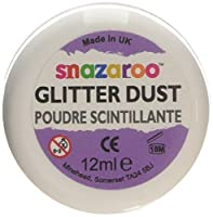 Snazaroo 1113651 Face and Body Paint Glitter Dust 12ml Silver [並行輸入品]