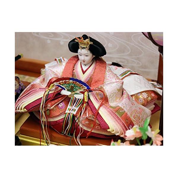 吉徳 雛人形 親王収納飾り 間口58×奥行38...の紹介画像8