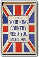 Your King And Country Need You, Enlist Now Vintage Military War Fridge Magnet - ?????????