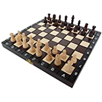 Wooden Chess Checkers Backgammon 3 in 1 Small Set [並行輸入品]