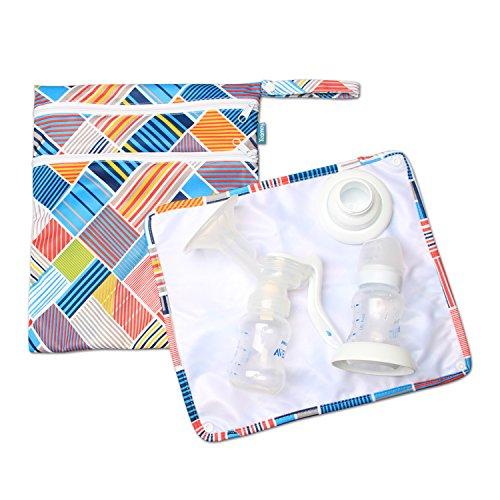 Teamoy ウェットバッグ 防水バッグ パット付き さく乳器 母乳パック 母乳ボトル 保管 移動 便利マルチストラップ Teamoy ウェットバッグ 防水バッグ さく乳器 母乳パック 母乳ボトル 保管 移動 便利