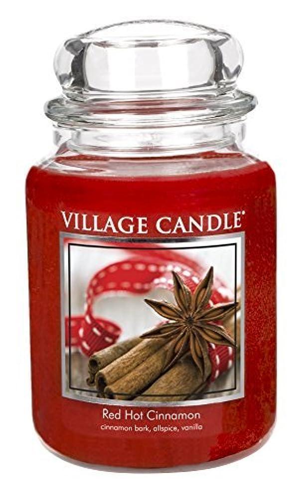 クローンそれに応じて財政Village Candle Red Hot Cinnamon 26 oz Glass Jar Scented Candle Large [並行輸入品]