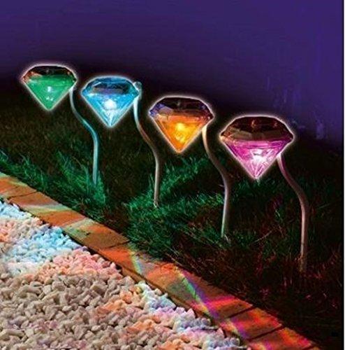 ダイヤモンドタイプ ガーデンライト 4個セット LEDライト...