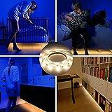 ベッドライト自動シャットオフタイマーベッド下キャビネット下のベッドルーム暖かい白3500K、LEDモーションセンサー照明、寝室ベッドサイドライトストリップ1.2Mベッドルームライトの廊下のPacked 2ロール
