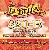 【国内正規品】La Bella ラベラ フラメンコギター弦 ブラックナイロン Silver Plated (028-041) 820-B