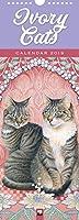 Ivory Cats Slim 2019 Calendar