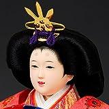 雛人形 ひな人形 K107 コンパクト 佳月 かげつ 雛人形 雛 ケース飾り 雛 五人飾り 画像