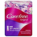 Carefree Pantyliner Scented Shower Fresh, 30ct