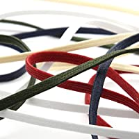 FUJIYAMA RIBBON ワックスコード コットン平紐 約3mm ホワイト 9.14M巻 手芸 アクセサリー
