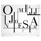 2017年アートポスターカレンダー タイポグラフィ シンプル&スタイリッシュデザイン