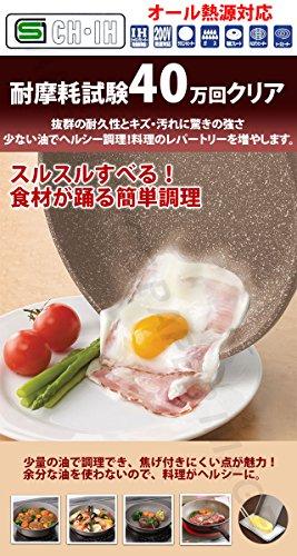 竹原製缶 パンテック4 ストーンマーブル IH フライパン深型 24cm