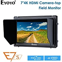 7 Inch Field Monitor A7S 1920x1200 IPS On Camera Supports 4K HDMI Input Loop Output Camera-top Screen For DSLR Mirrorless Camera SONY A7S II A6500 Panasonic GH5 Canon 5D Mark IV DJI Ronin M