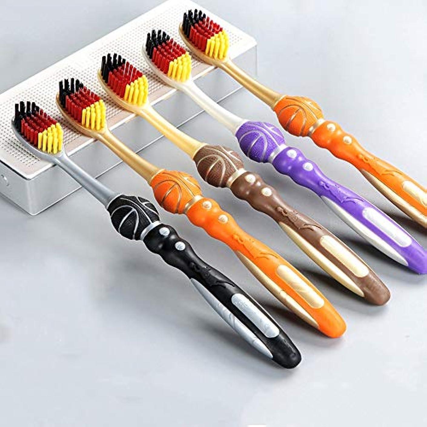 大佐ランチ有彩色の歯ブラシ 10パック歯ブラシ、ソフト毛歯ブラシ、竹炭歯ブラシ、携帯用歯ブラシ - 利用可能な2つのスタイル HL (色 : A, サイズ : 10 packs)