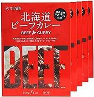 北海道 こだわり ビーフカレー 5食 セット 中辛 北海道産牛肉100%使用 北国からの贈り物