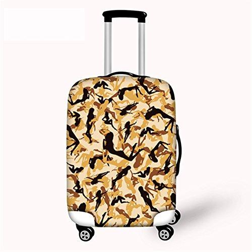 [해외]Cozeyat 방수 가방 커버 신축성 소재 캐리 커버 튼튼한 휴대용 케이스 커버 패션 흠집으로부터 보호 s m l 크기 위장 무늬/Cozeyat Waterproof Suitcase Cover Extensible Material Carry Cover Durable Carry Case Cover Protects from fashionable...