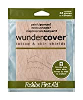 Wundercover: Tattoo Covers and Skin Shields (48 Strips) Beige - (4 Sheets) by Fashion First Aid
