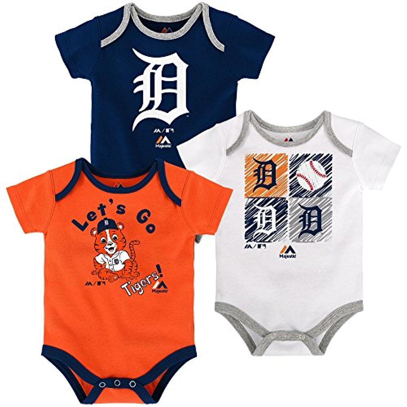 多数の北へ旅行Detroit Tigersベビー/幼児Go Team 3 Piece Creeper Set