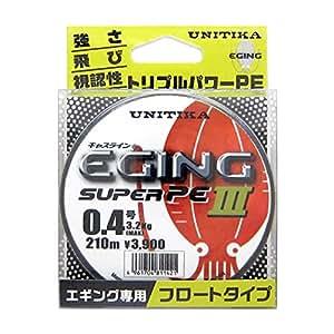 ユニチカ(UNITIKA) キャスライン エギングスーパーPEIII 210m 0.4号