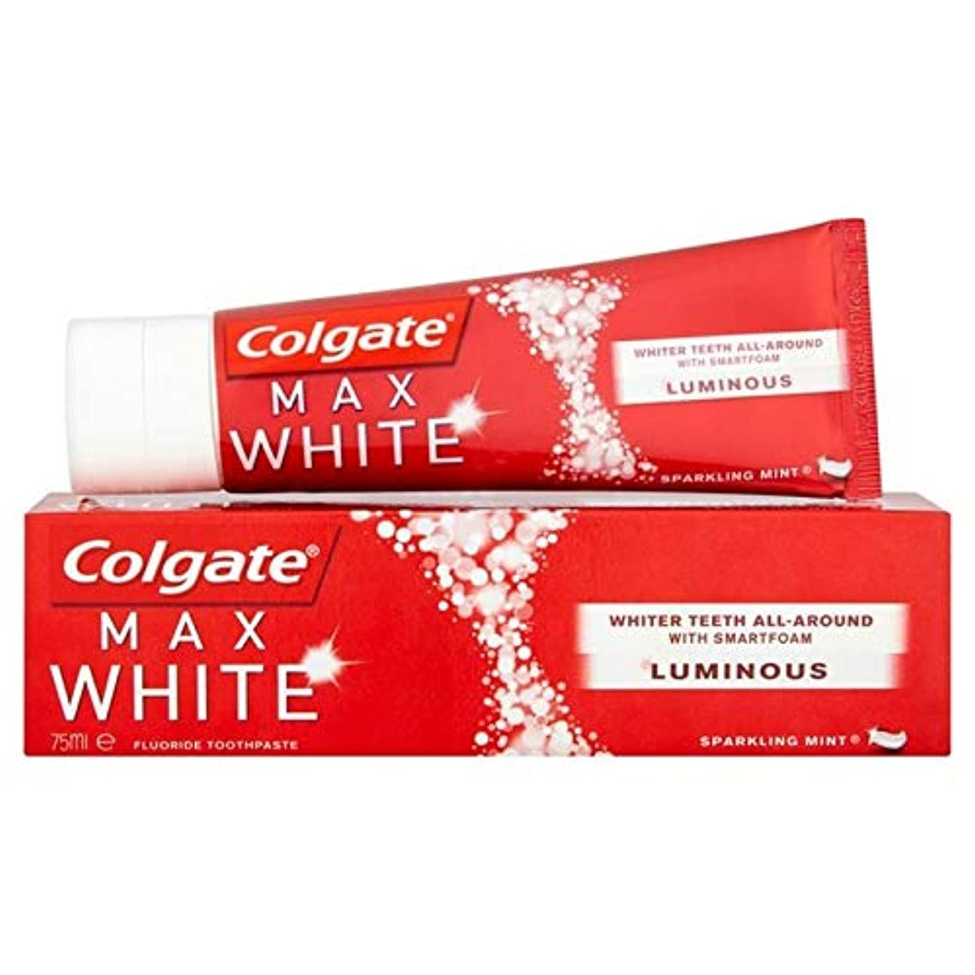 コンテンポラリーティーム大破[Colgate ] コルゲート最大白い光輝くミントホワイトニング歯磨き粉75ミリリットル - Colgate Max White Luminous Sparkling Mint Whitening Toothpaste...