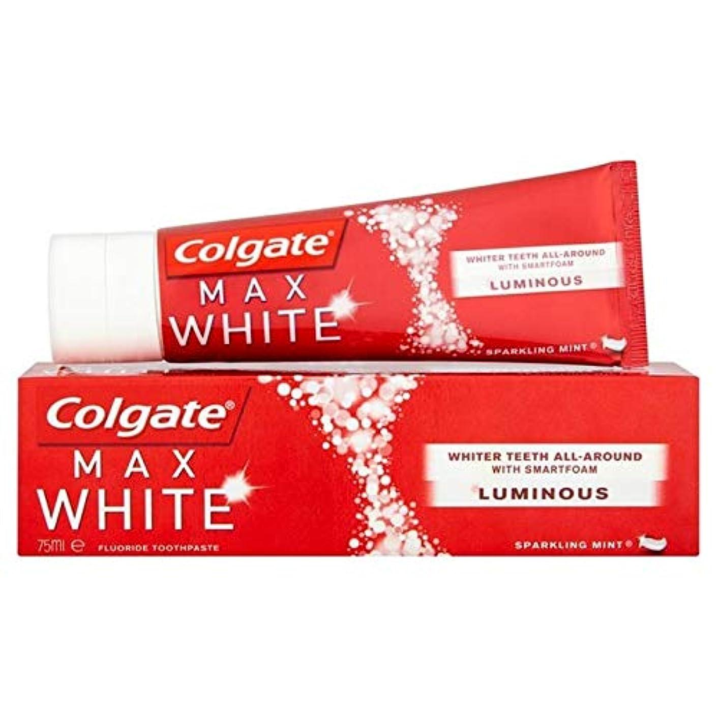 偶然テレックス国家[Colgate ] コルゲート最大白い光輝くミントホワイトニング歯磨き粉75ミリリットル - Colgate Max White Luminous Sparkling Mint Whitening Toothpaste...